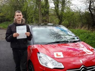 Ethan Blackwell of Leyland. Passed 30 April