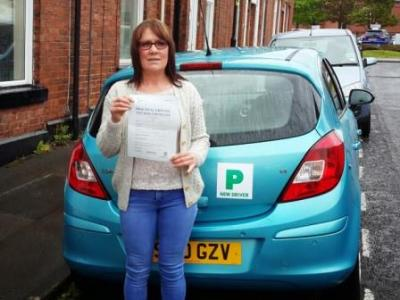 Cath Jones of Chorley. Passed 6 May