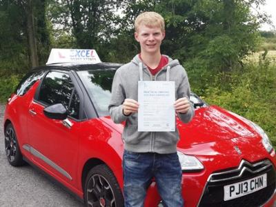 Ryan Berry of Euxton. Passed 16th July