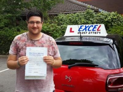 Kristian Berry of Euxton. Passed 8 July
